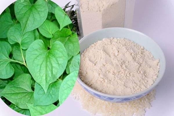 Mặt nạ rau diếp cá và cám gạo giúp trị mụn hiệu quả