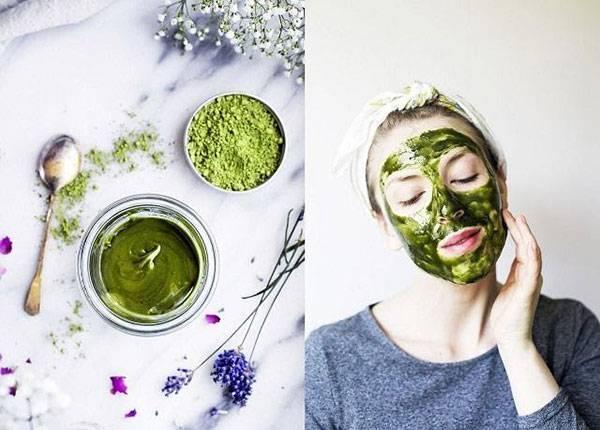 Bột trà xanh giúp làm sạch tế bào chết và ngăn ngừa lão hóa