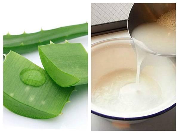 Nha đam và nước vo gạo